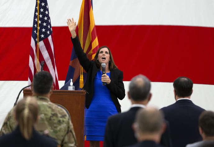 La sénatrice républicaine Martha McSally de l'Arizona le 8 octobre à Phoenix.