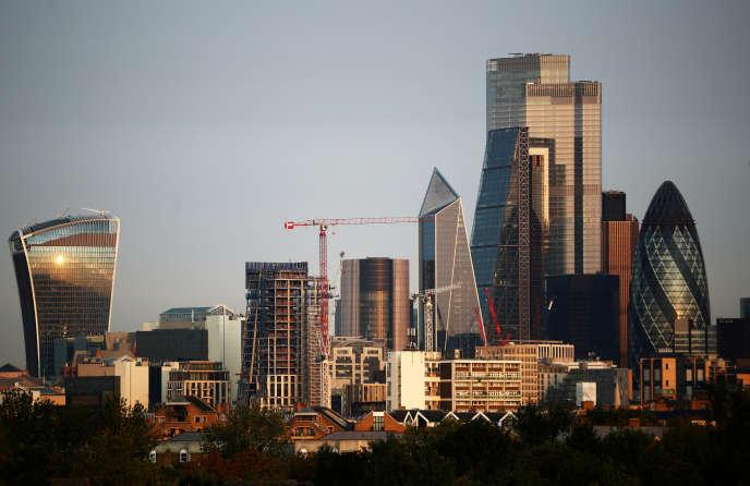 Vue de la City, le quartier d'affaires londonien, le 7 octobre.