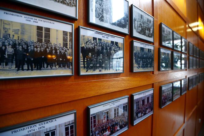 Photographies de promotions de l'Ecole nationale d'administration (ENA), à Strasbourg, en 2013.