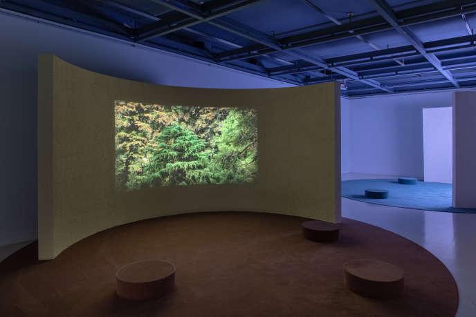 Vue de l'exposition de Jennifer Douzenel, «Juste un somme», à l'Ecole municipale des beaux-arts/Galerie Edouard-Manet à Gennevilliers (Hauts-de-Seine), jusqu'au 5 décembre 2020.