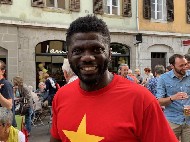 L'écrivain ivoirien Gauz, à Chambéry, en 2019/