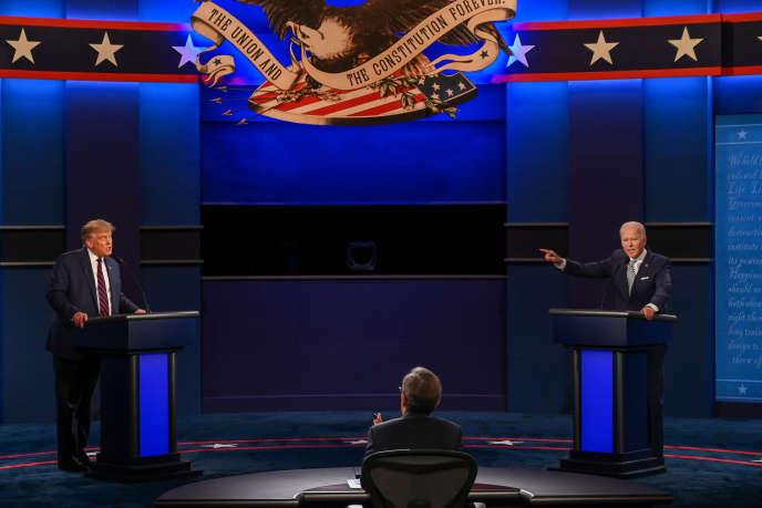 Donald Trump et Joe Biden, lors du premier débat, à Cleveland (Ohio), le 29 septembre.