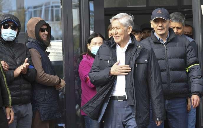 Almazbek Atambaïev, le vendredi 9 octobre, à Bichkek, la capitale du pays.