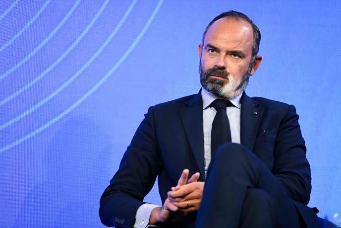 Edouard Philippe, lors d'un débat sur le «Sommet du Grand Paris», à Paris, le 29 septembre.