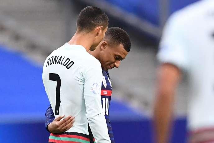 Cristiano Ronaldo et Kylian Mbappé, le 11 octobre 2020.