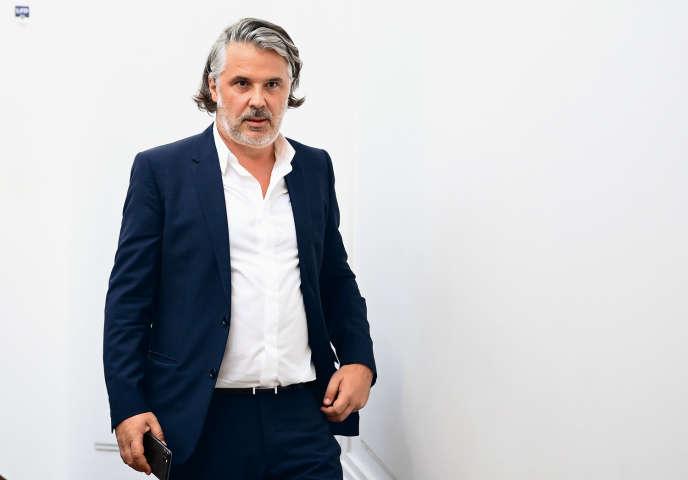 Le nouveau président de la Ligue de football professionnel, Vincent Labrune, le 10septembre, à Paris.
