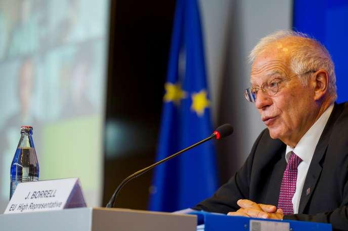 Josep Borrell, le haut représentant de l'Union européenne pour les affaires étrangères et la politique de sécurité, à Luxembourg, le 12 octobre.
