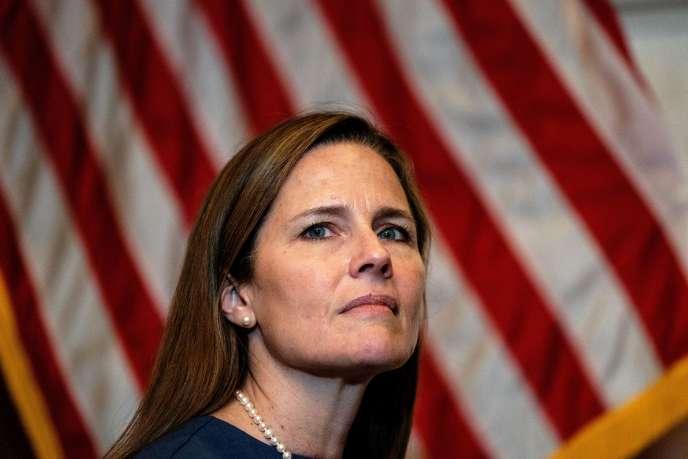 La juge Amy Coney Barrett, nommée à la Cour suprême par le président Donald Trump, le 29 septembre à Washington.