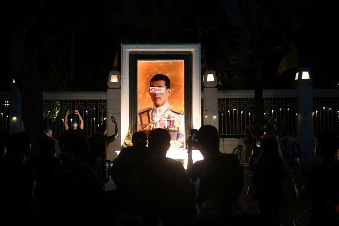 At a rally to call for the resignation of the government and reforms of the monarchy, in Bangkok, on September 19.