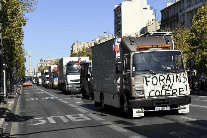 Manifestation de forains à Marseille, le 12octobre.