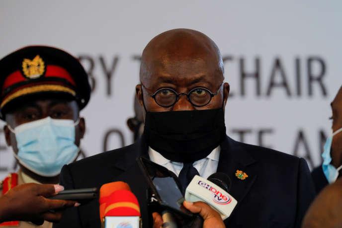Le président ghanéen, Nana Akufo-Addo, à Accra, le 15septembre 2020.