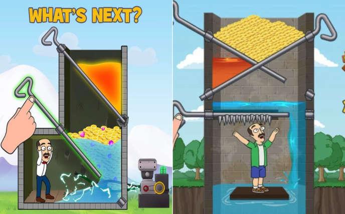 Deux exemples de publicité pour «Homescapes» diffusées sur Facebook.