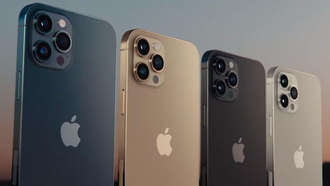 Les quatre couleurs de l'iPhone 12 Pro.