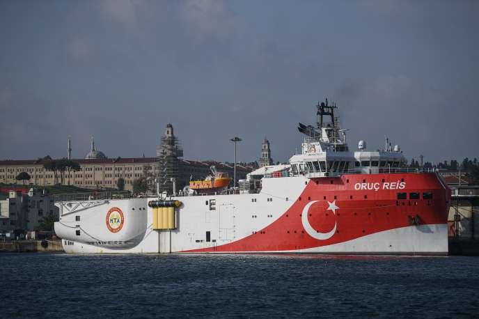 La Turquie a annoncé dimanche soir le déploiement de l'« Oruç-Reis » jusqu'au 22octobre dans une zone maritime revendiquée par Athènes.