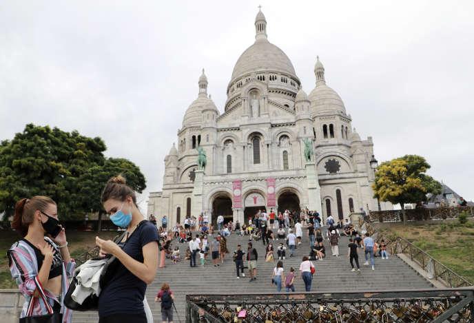La basilique du Sacré-Cœur à Paris, le 27 août.
