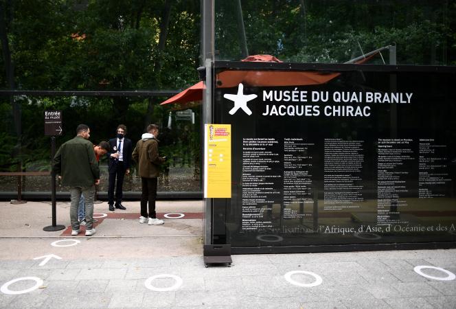 L'entrée du musée du Quai-Branly, à Paris, en juin 2020.