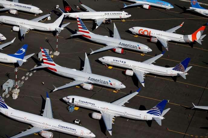 Lemoyen-courrier 737 MAX de Boeing est toujours au sol depuis la mi-mars 2019. Ici à Seattle, en juillet 2019.
