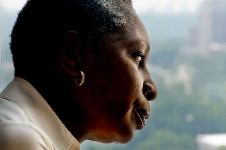 This July 22, 2011 photo shows Elaine Riddick in her home in Atlanta. Riddick is fighting for compensation from her native state of North Carolina over her sterilization as a young girl. Between 1929 and 1974, North Carolina sterilized more than 7,600 individuals in the name of