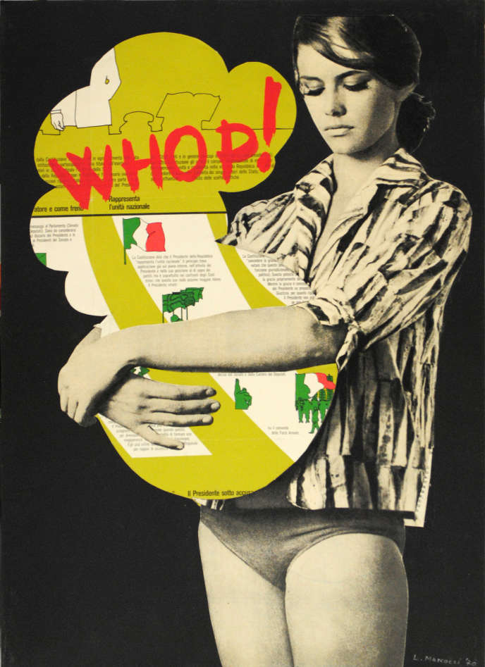 «Whop!» (1970), de Lucia Marcucci. Technique mixte et collage sur carton, 50 cm x 35 cm.