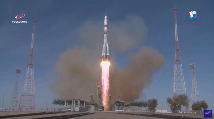 Les deux cosmonautes de Roscosmos et l'astronaute de la NASA ont décollé ce matin du cosmodrome russe de Baïkonour, au Kazakhstan.