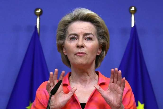 La présidente de la Commission européenne, Ursula von der Leyen, le 14 octobre à Bruxelles.