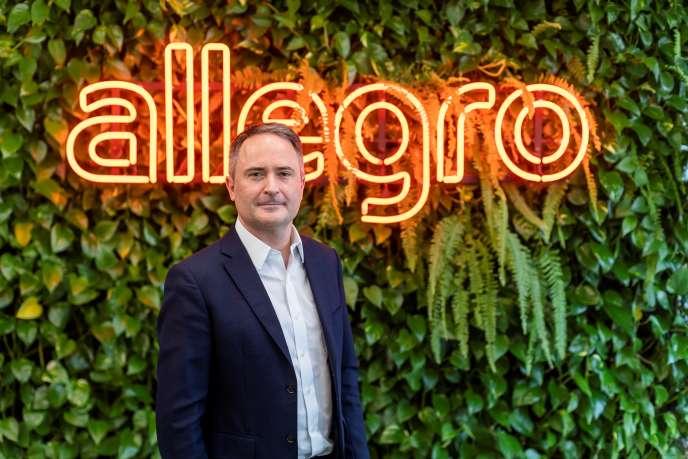 Le PDG d'Allegro, le Français François Nuyts, dans le siège de la compagnie d'e-commerce, à Varsovie, le 7 octobre.