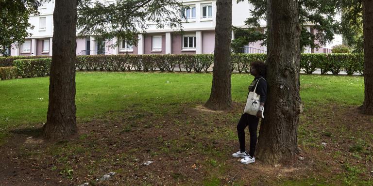 immeuble où se sont produits les faits rue Guy Ropartz quartier de Maurepas Babacar Gueye tué par la police à Rennes en 2015 Rennes France 12 octobre 2020