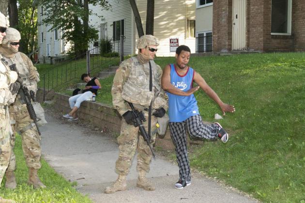 La garde nationale dans les rues de Minneapolis (Minnesota), le 1er juin.