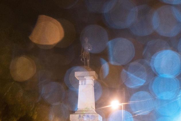 A Richmond ( Virgine) la statue du General A.P. Hill in Richmond, général confédéré.