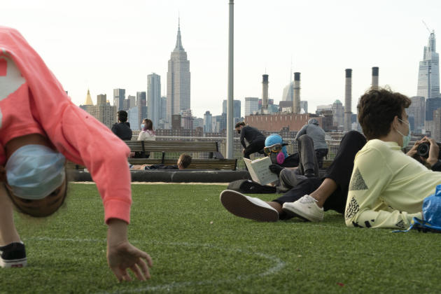 Le Park Domino, à Brooklyn, au début de la crise liée au Covid-19, 18 mars.