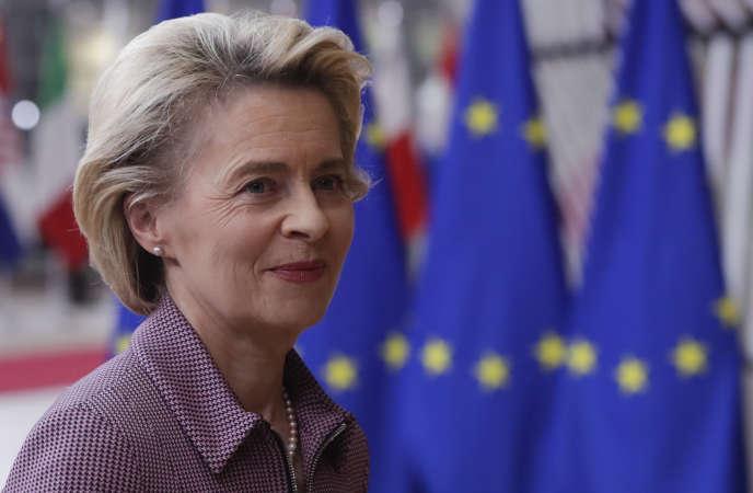 La présidente de la Commisson européenne, Ursula von der Leyen, à Bruxelles, le 15 octobre.