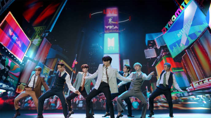 Le groupe de K-pop sud-coréen BTS, le 30 août.