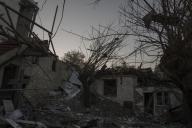 Une maison détruite par les bombardements des forces azéries, à Stepanakert, Haut-Karabakh, le 14 octobre.