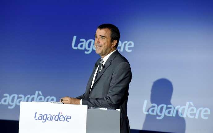Arnaud Lagardère, patron du groupe de médias du même nom, à Paris, le 10 mai 2019.