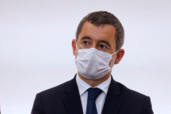 Le ministre de l'intérieur, Gérald Darmanin, lors d'une conférence de presse, le 15octobre2020.