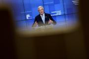 Michel Barnier, négociateur européen pour la sortie du Royaume-Uni de l'Union, jeudi 15 octobre, lors du sommet européen à Bruxelles.