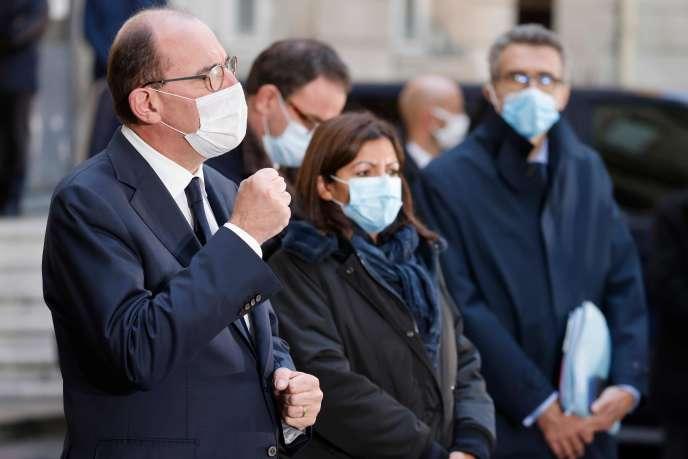 Le premier ministre, Jean Castex, et la maire de Paris, Anne Hidalgo, le 15 octobre.