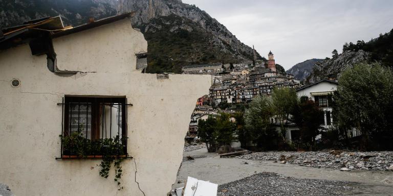 Tende, le 9 octobre 2020 - Vue du village de Tende.