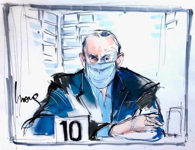Salvador Cienfuegos, l'ancien ministre la défense mexicain au tribunal de Los Angeles, le 16 octobre 2020.