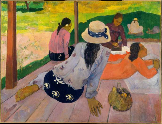 « La Sieste », Paul Gauguin, vers 1892-1894,  New York, Metropolitan Museum of Art.