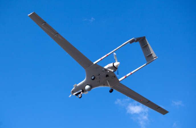 UnTB2, drone produit par Baykar, ici en République turque de Chypre du Nord (autoproclamée), en décembre 2019.