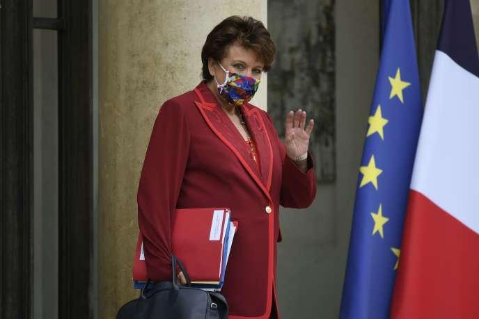 La ministre de la culture Roselyne Bachelot à l'Elysée, Paris, le 28 septembre 2020.