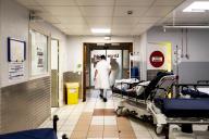 Aux urgences du centre hospitalier intercommunal André-Grégoire, à Montreuil (Seine-Saint-Denis), le13 octobre 2020.