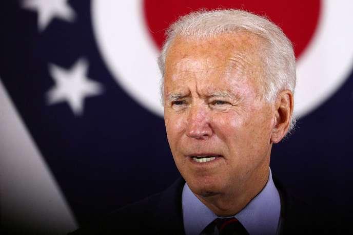 Joe Biden lors d'un meeting àCincinnati, Ohio, le 12 octobre 2020.