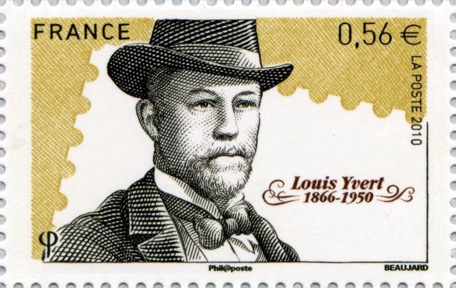 « Louis Yvert»: timbre paru en 2010, dessiné et gravé par Yves Beaujard.