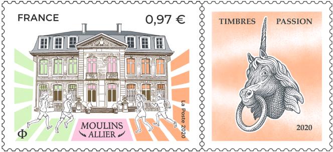 Vente en avant-première le 30 octobre, vente générale le 2 novembre pour ce timbre créé par André Lavergne (d'après photos Mondière/CD03).