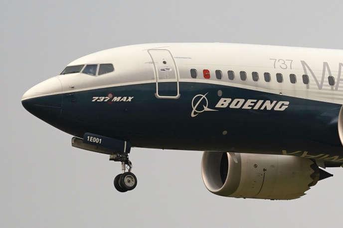 Un Boeing 737 MAX en vol d'essai à Seattle le 30 septembre 2020.