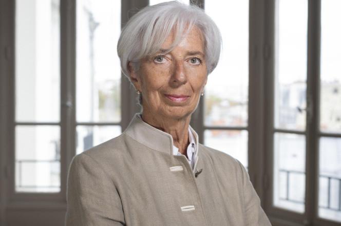 Christine Lagarde, chez elle, à Paris, en 2019.