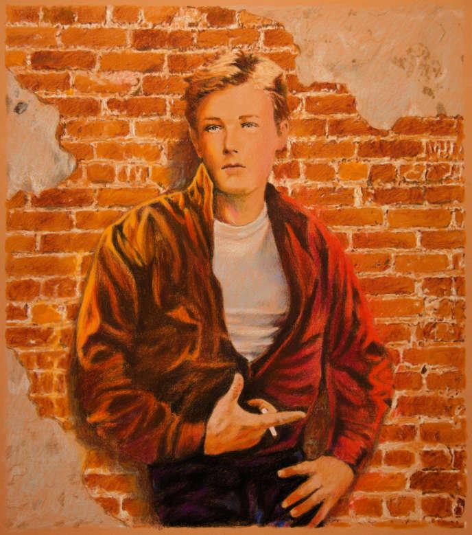 Arthur Rimbaud, d'après le portrait réalisé par le photographe Etienne Carjatvers 1872.