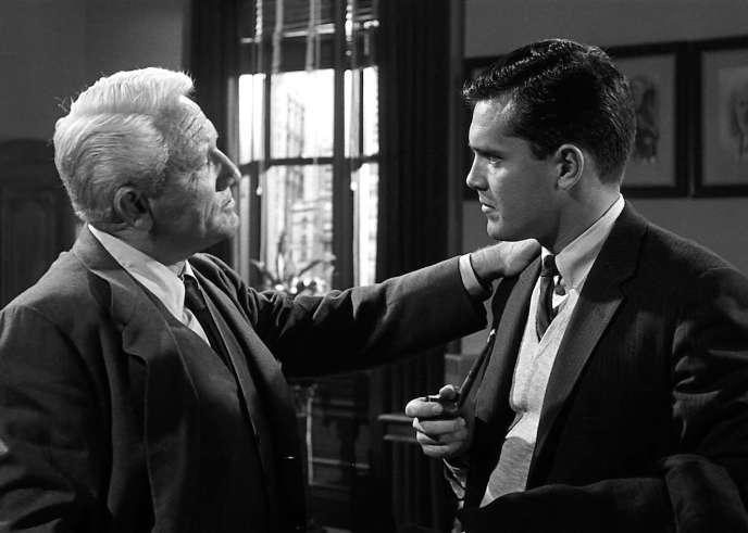 Spencer Tracy (Frank Skeffington) etCharles B.Fitzsimons (Kevin McCluskey) dans«La Dernière Fanfare» («The Last Hurrah», 1958), de John Ford.